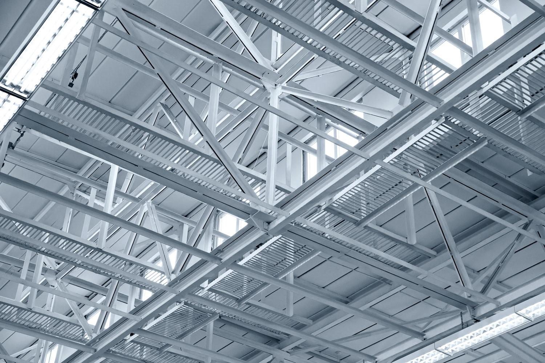 Foto de estructura metálica de acero de techo de Brausa, fabricante de perfiles de acero conformado en frío