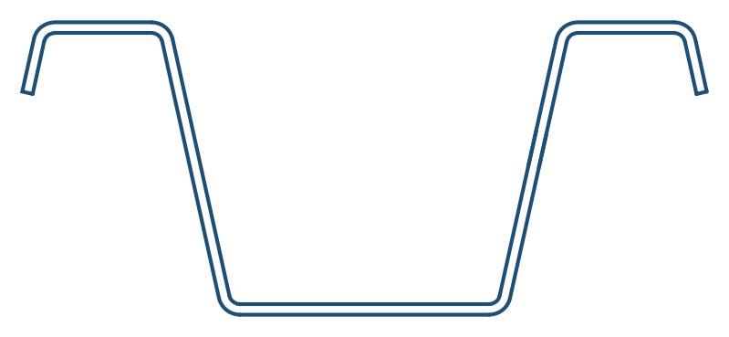 Perfil de acero conformado en frío omega silo. Brausa