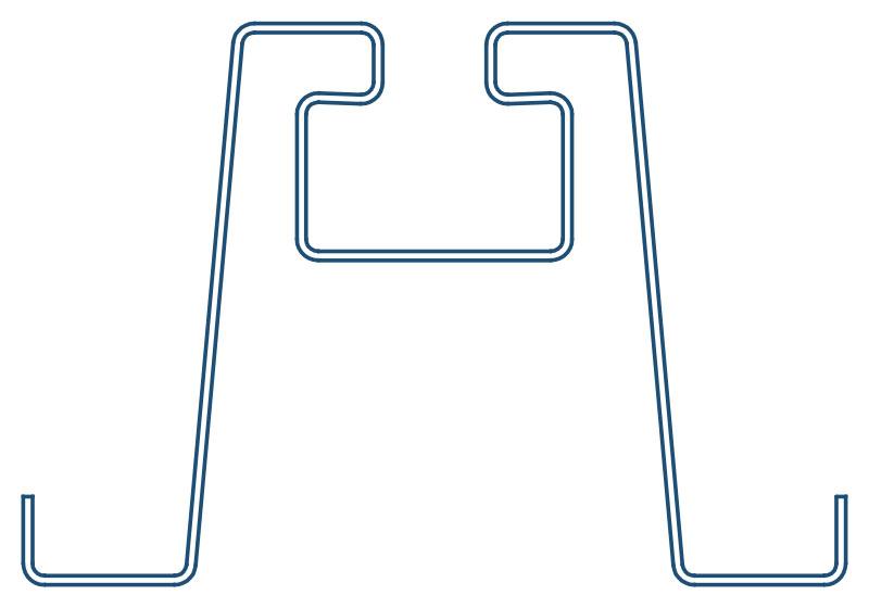 Foto de perfil de acero conformado en frío soporte omega. Brausa