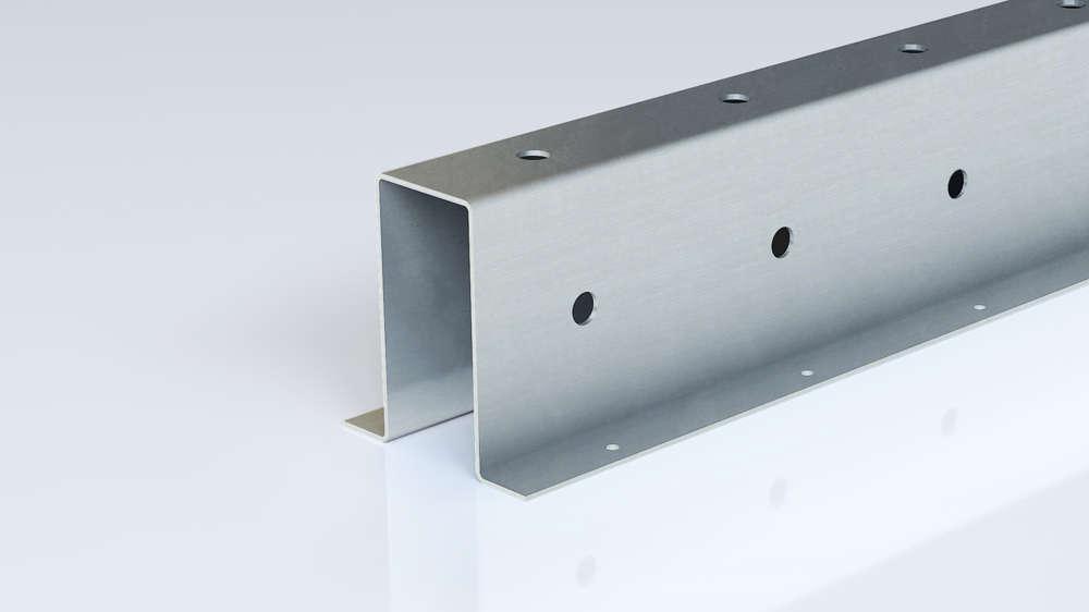 Foto de perfil omega punzado de acero conformado en frío de Brausa