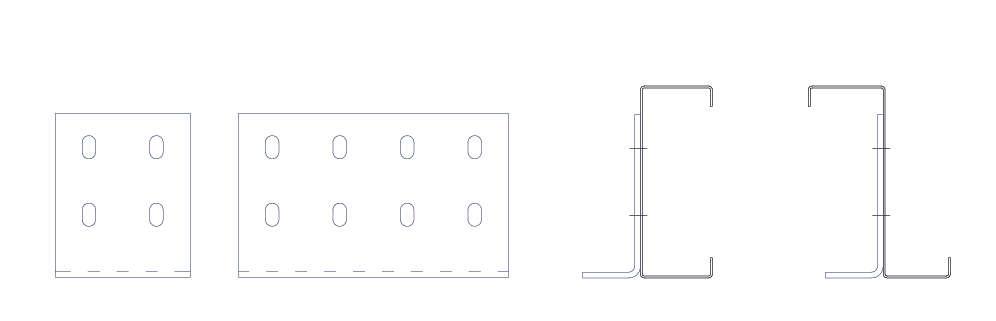 dibujo de perfiles ejiones para perfiles de acero conformados en frío. Brausa.
