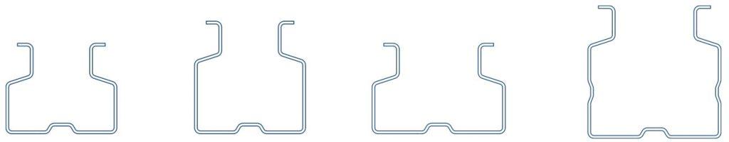 dibujo de puntales sin cuotas de perfiles de acero conformado en frío en Brausa, fabricante de perfiles de acero conformados en frío