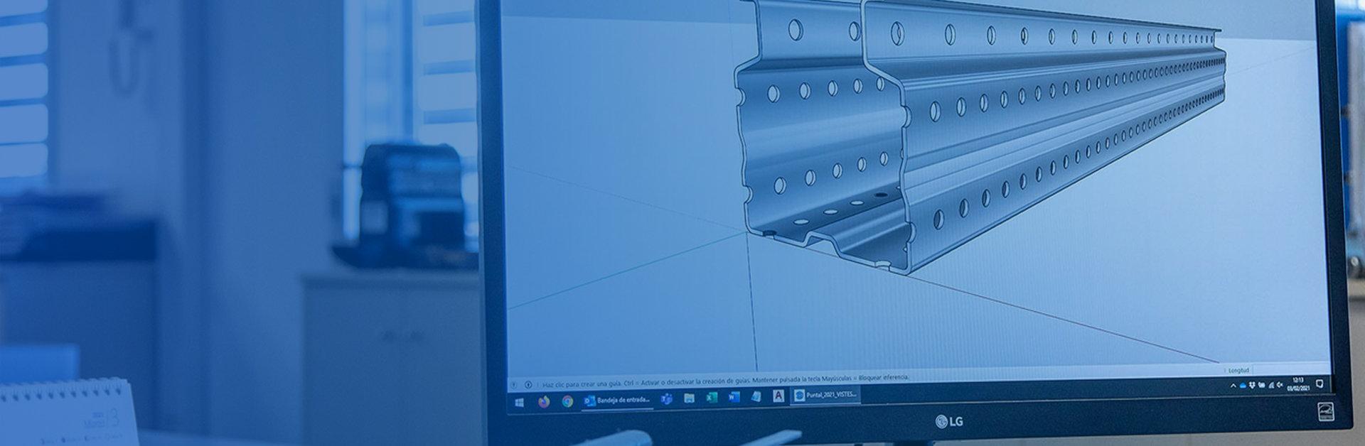 Foto de header para sección de ingeniería, de Brausa, fabricante de perfiles de acero conformado en frío